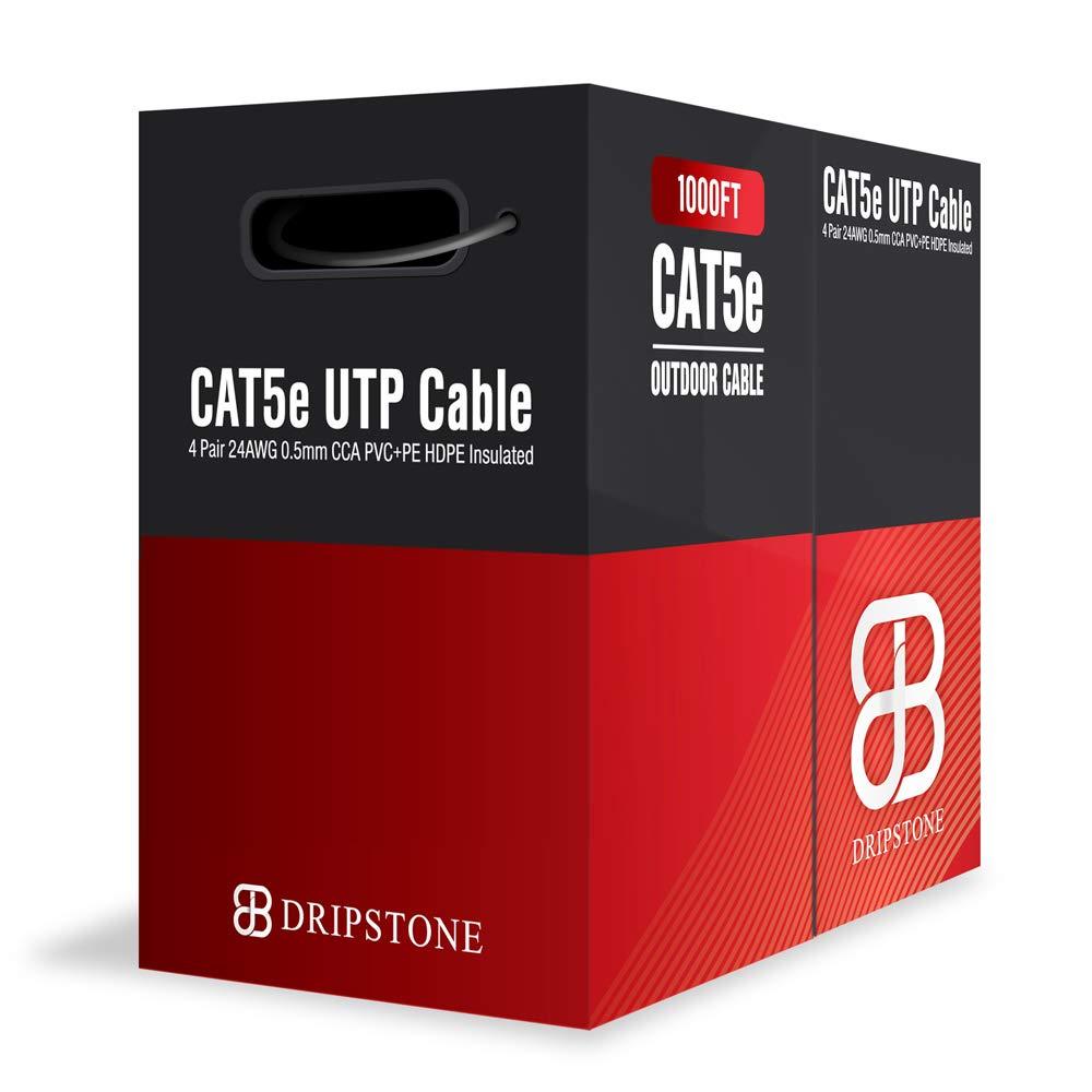 Black Box 1000-ft Gray CAT5e 350MHz Solid Bulk Cable UTP CMR Pull Box