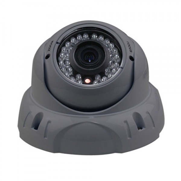 Dripstone 2.4MP 1080p Sony CMOS Sensor CCTV Security HD-TVI Dome Camera 2.8-12mm Varifocal Lens IR-CUT 36 IR Leds Night Vision Indoor/Outdoor IP66 4-in-1 Camera TVI/CVI/AHD/960H Video Support, Gray