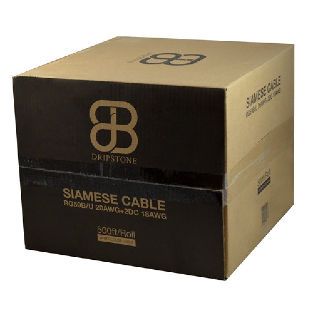 Rg59 CCTV Security Camera Siamese 500ft 1000ft Cable 20AWG+18//2 Bulk Wire