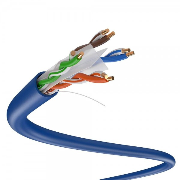 Solid Link 1000FT CAT6 Solid 4/UTP 0.57mm Network Cable  (Blue)