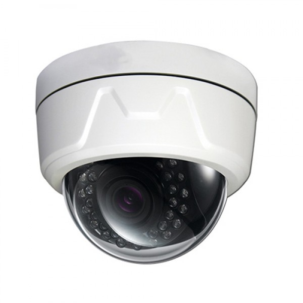 "2.0MP 1/3"" CMOS HD-TVI 1080p Dome Camera 2.8-12mm Lens IP66 White"