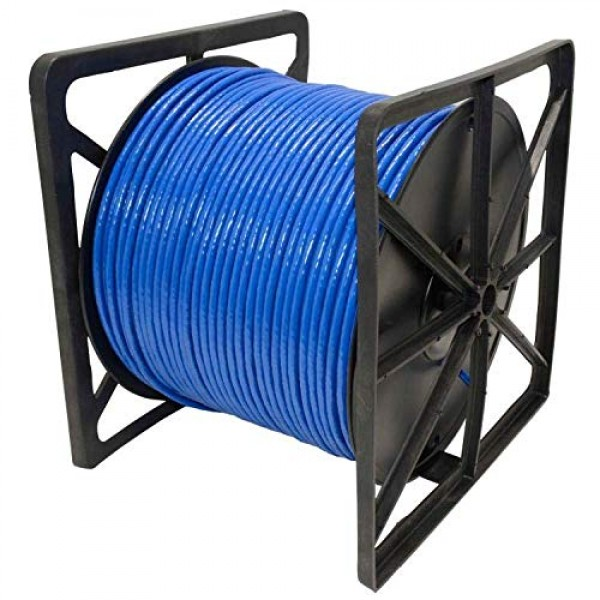 1000ft CAT5e Plenum (CMP Rated) Bare Copper UTP ETL Listed  Solid Conductor Cable 24AWG 350Mhz (Pass Fluke Test)  Blue