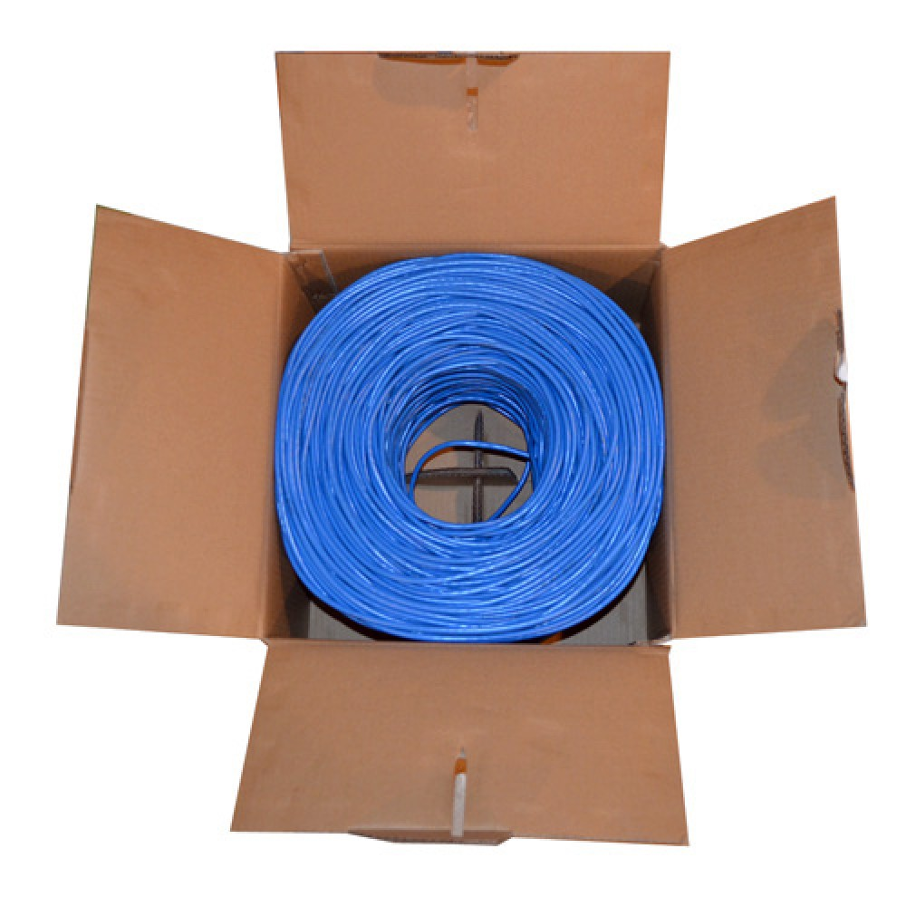 blue 1000ft cat6 utp cable cat5e lan solid network wire ethernet bulk rj45. Black Bedroom Furniture Sets. Home Design Ideas