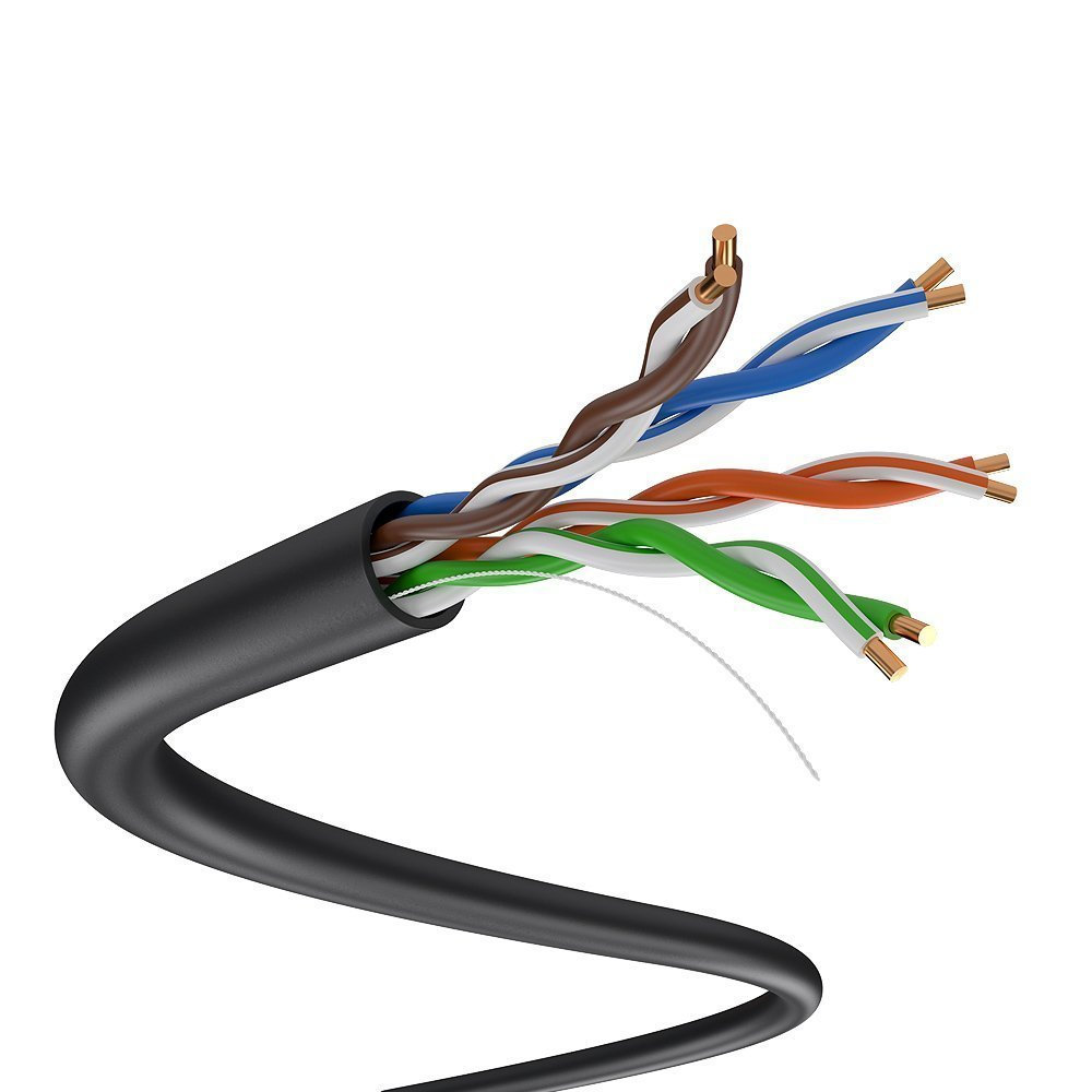 Dripstone 1000FT CAT5E Outdoor Direct Burial Solid Cable UTP ...