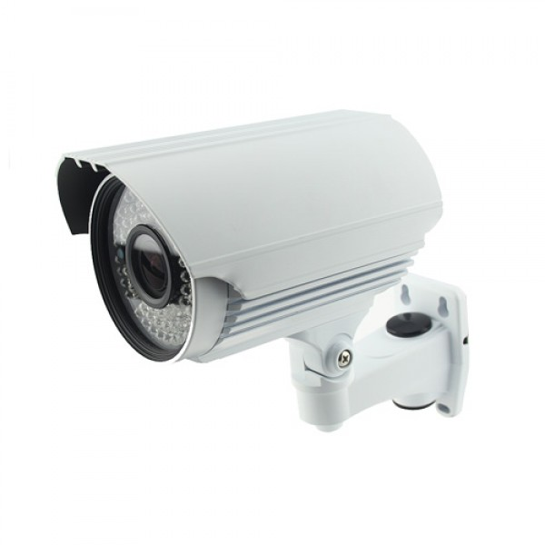 "1000TVL Bullet Security Camera 2.8-12mm Varifocal 1/3"" Lens 72IR White"