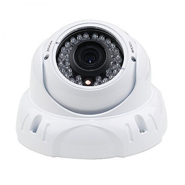 Dripstone 2.4MP 1080P CCTV Security HD-TVI Camera 2.8-12mm Lens IR-CUT 36 IR Leds Night Vision Outdoor Indoor Dome White