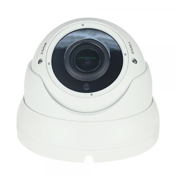 Dripstone 2.1MP Sony IMX323 HD-TVI Camera 2.8-12mm Lens IR-CUT Outdoor & Indoor Dome 4-in-1 Camera Supports TVI/CVI/AHD/960H Signals, White
