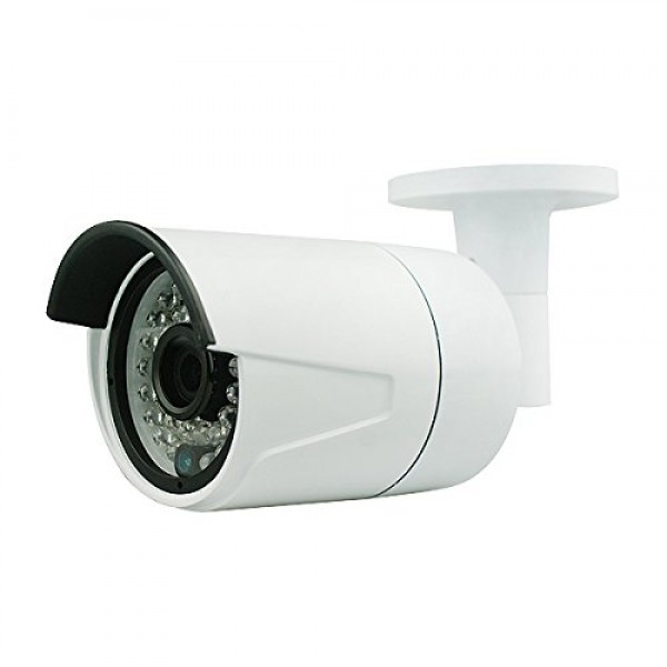 Dripstone 4MP IP Bullet Camera Super HD 3.6mm Fixed Lens, 100FT Night Vision, Built in POE & Audio, Motion Detection Alert