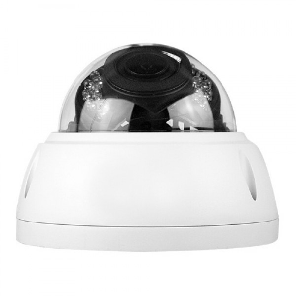Dripstone 4MP Super CMOS IP Dome Camera with 2.8-12mm Electric Zoom with Auto Focus 100° Angle View 130ft IR Distance
